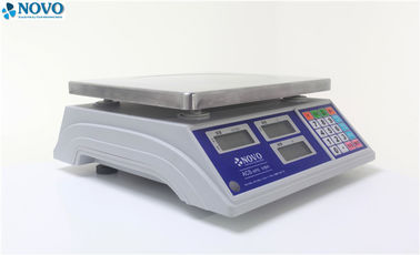 China Dual Interval Digital Pricing Scale , Commercial Digital Weighing Scale Green Backlight factory