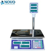 China Tare Function Digital Pricing Scale 350 Mm Pan APD-J08 Dual Side LED Display factory