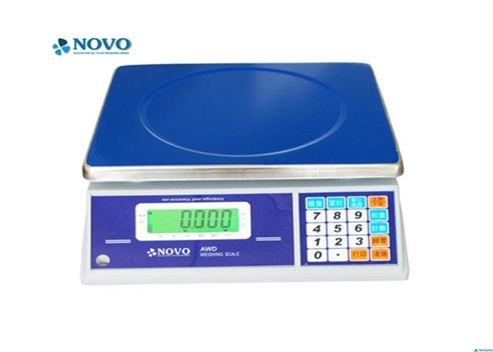 Blue Digital Weighing Machine , Counting Weighing Machine Hi - Low Function