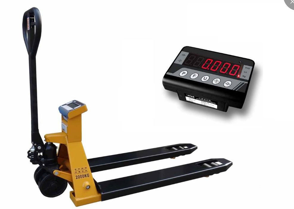 Hydraulic Pallet Weighing Scales LED LCD Display 2000kg 550*1150 Panel Size supplier