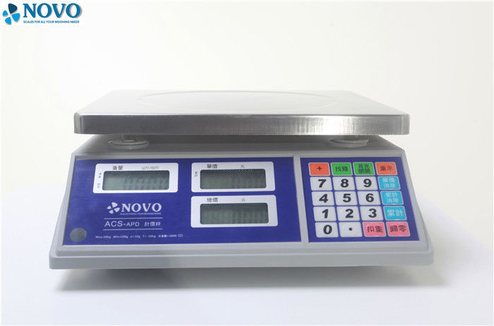 3x LCD Display Digital Counting Scale 110-220V 50-60hz With Green Backlight
