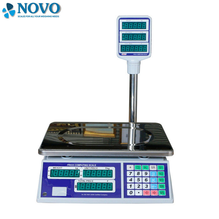 Grocery Digital Pricing Scale , Portable Digital Scale With Rotary Supporting Arm
