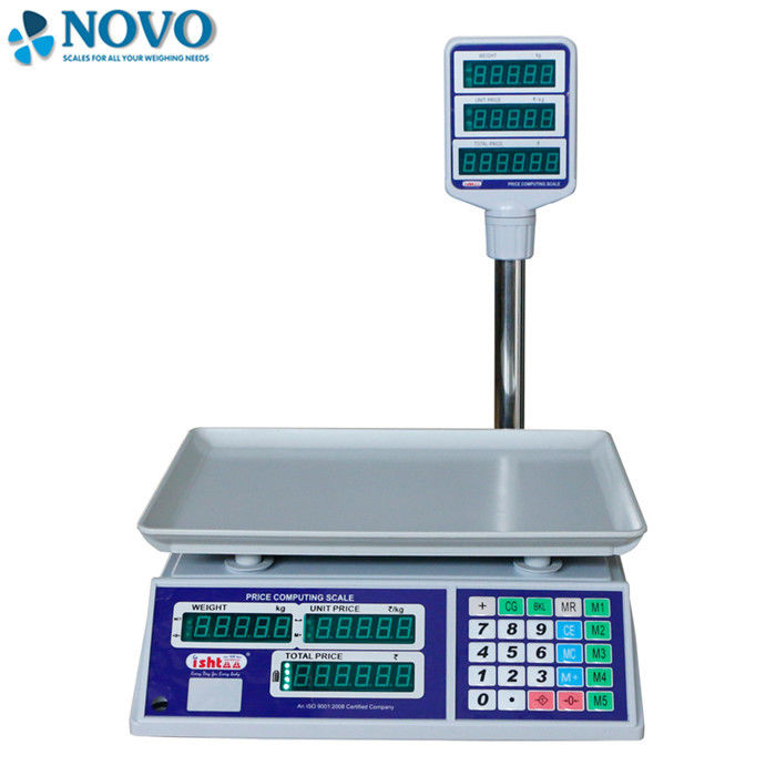 Supermarket Electronic Scale Machine Give Change Function 50 Preset Memory Keys supplier